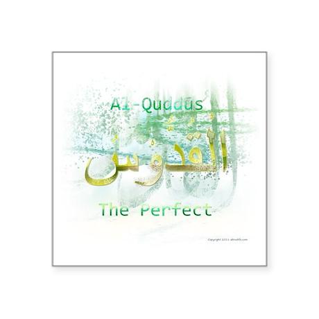 """Al-Quddus_smallwhite Square Sticker 3"""" x 3"""""""