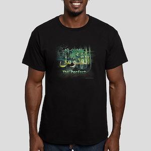Al-Quddus_smallwhite Men's Fitted T-Shirt (dark)