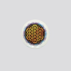 Flower Of Life 2 Mini Button