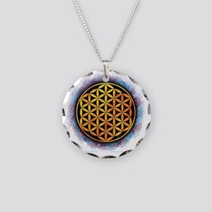 Flower Of Life 2 Necklace Circle Charm