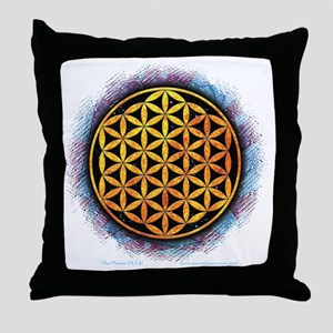 Flower Of Life 2 Throw Pillow