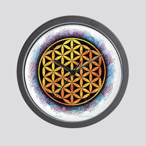 Flower Of Life 2 Wall Clock