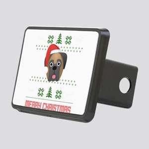 Bullmastif Santa Snow Chri Rectangular Hitch Cover