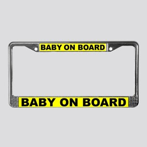 Baby on board (pregnant) License Plate Frame