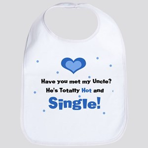 My Hot Single Uncle Blue Baby Bib