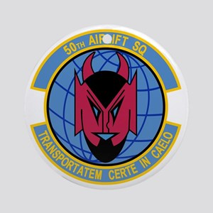 50th Airlift Squadron Round Ornament