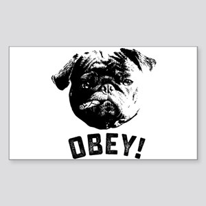 Obey The Pug Sticker