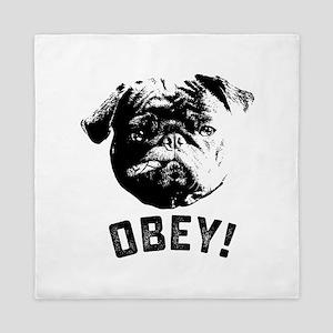 Obey The Pug Queen Duvet