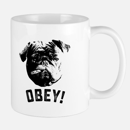 Obey The Pug Mugs