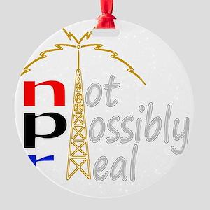npr national public radio Round Ornament
