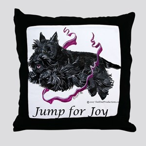 Jump for Joy Scottie Throw Pillow