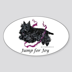 Jump for Joy Scottie Oval Sticker