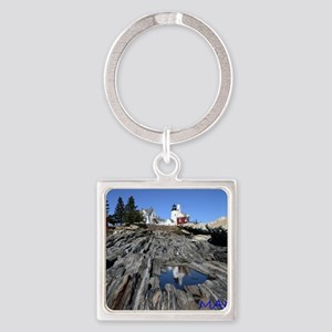 Maine Reflection Note Card Square Keychain