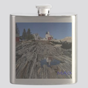 Maine Reflection Note Card Flask