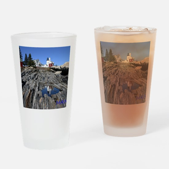 Maine Reflection Note Card Drinking Glass