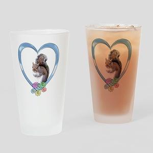 sqheart Drinking Glass