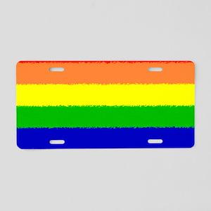 Rainbow Holder Aluminum License Plate