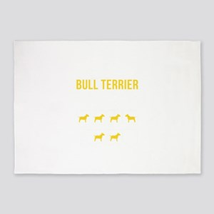 Bull Terrier Stubborn Tricks 5'x7'Area Rug
