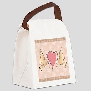 DOVEBIRDS Canvas Lunch Bag