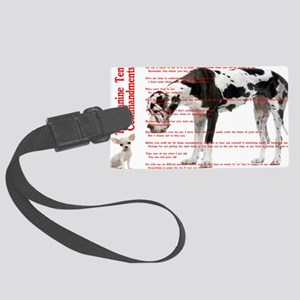 CANINE TEN COMMANDMENTS 36x24 00 Large Luggage Tag