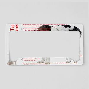 CANINE TEN COMMANDMENTS 36x24 License Plate Holder