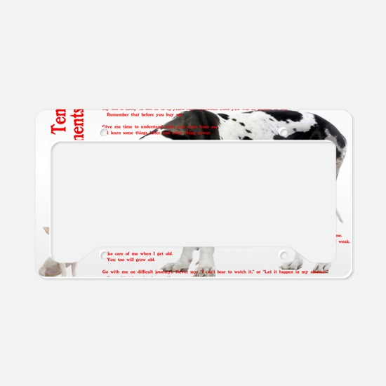 CANINE TEN COMMANDMENTS 36x24 License Plate Holder