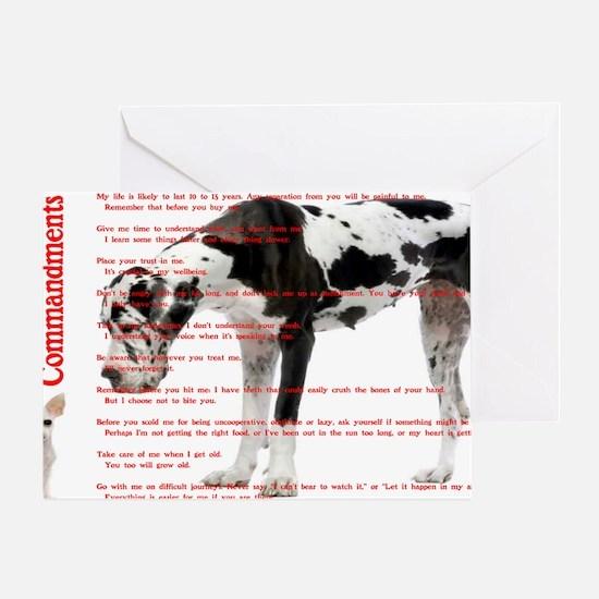 CANINE TEN COMMANDMENTS 36x24 001 03 Greeting Card