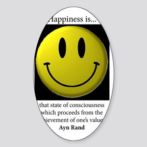 Happiness Sticker (Oval)