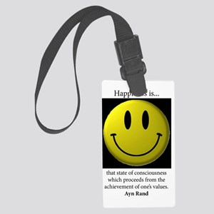 Happiness Large Luggage Tag