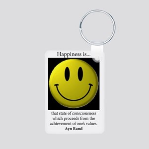 Happiness Aluminum Photo Keychain