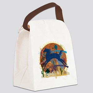 PonyAbstract1 Canvas Lunch Bag