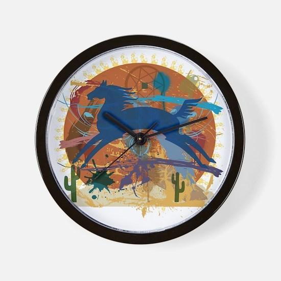 PonyAbstract1 Wall Clock