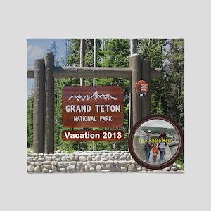 DIY Photo Souvenir From Grand Tetons Throw Blanket