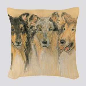 Collie Adults Woven Throw Pillow