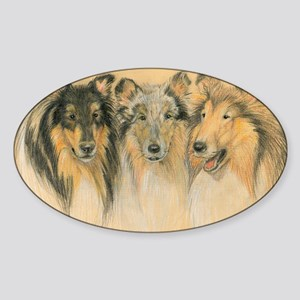 Collie Adults Sticker (Oval)