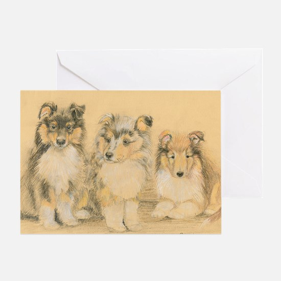 Collie Puppies Greeting Card