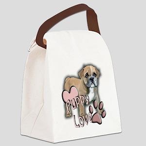 bulldog_puppy_love Canvas Lunch Bag