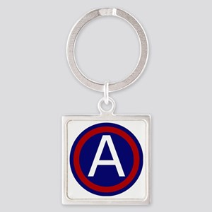 3rd Army - Central - USARCENT Square Keychain