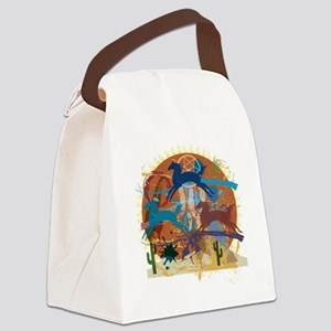 PonyAbstract Canvas Lunch Bag