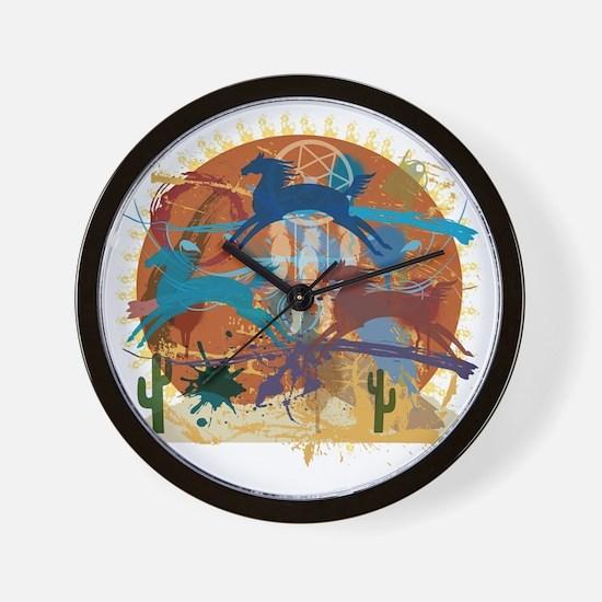 PonyAbstract Wall Clock