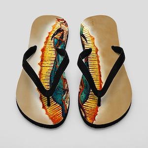 Virgen GuadalupePopZazzlecopy Flip Flops