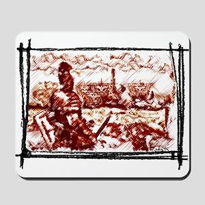 Roman Legionary see his Naval fleet Mousepad