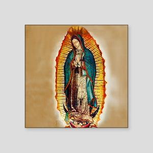 """Virgen GuadalupePopZazzleco Square Sticker 3"""" x 3"""""""