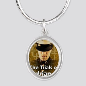 The Trials of Adrian Wheeler  Silver Oval Necklace