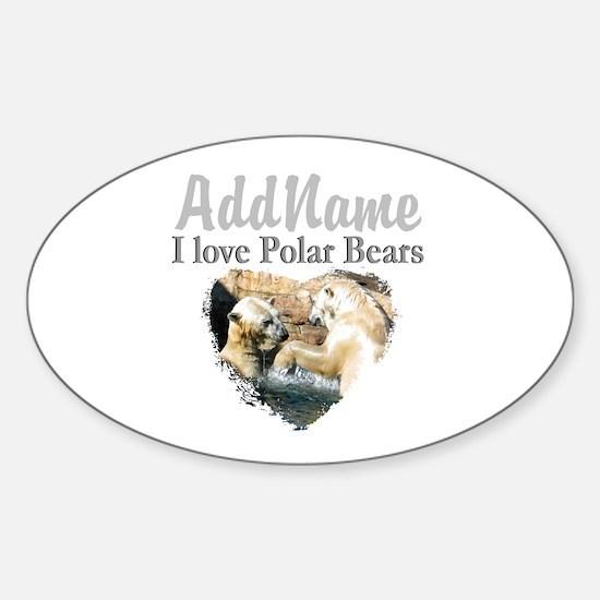LOVE POLAR BEARS Sticker (Oval)