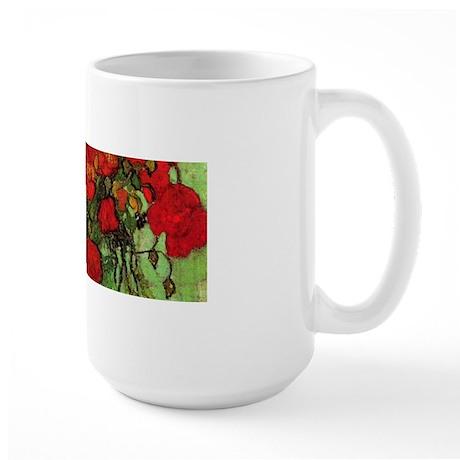 Van Gogh Poppies Wraparound Large Mug
