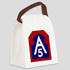 5th Army - North - USARNORTH Canvas Lunch Bag