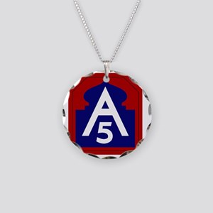 5th Army - North - USARNORTH Necklace Circle Charm