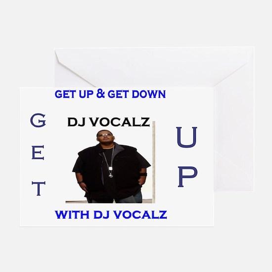 dj vocalz tshirt Greeting Card