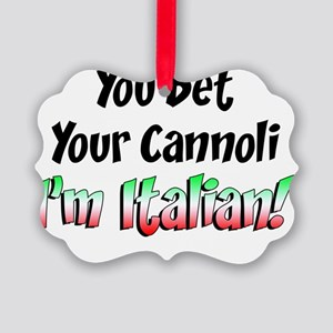 Bet Your Cannoli Kids Picture Ornament